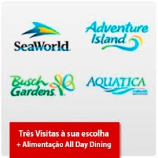 SeaWorld Parks (2 visitas + Uma grátis) + Plano de Alimentação para os 3 dias - Acima de 3 anos (Ingresso Eletrônico)